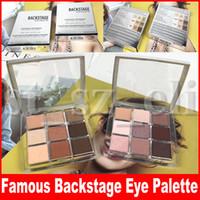 renk pigmentleri makyaj toptan satış-Göz Makyaj Paletleri Backstage Göz farı Paleti Profesyonel Performans 9 renk Mat Çok Bitirmek Yüksek Pigmentli Göz Farı