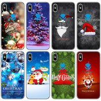 Wholesale santa christmas silicone case for sale - Group buy TongTrade Soft Silicone TPU Case For iPhone Pro s s X XS Max Plus Huawei Mate P20 P30 Pro Christmas Santa Claus Case