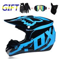 xl kir bisiklet kaskı toptan satış-3 hediye motosiklet kask erkek moto bisiklet kask capacete motocross off road DOT ATV Dirt Bike Yokuş Aşağı MTB DH yarış