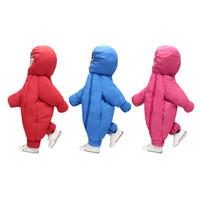Wholesale baby winter overcoat online - 2017 new baby jumpsuit autumn winter snowsuit jacket kids overcoat Park baby girl clothing outdoor warm coat with hat for boys