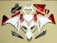 ingrosso belle versioni-Nuovo ABS Mold carenature del motociclo misura per la Yamaha YZF-1000-R1 2009 2010 2011 09 10 11 set carene del bianco bel rosso