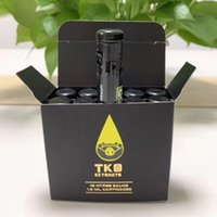 e zigarettenölpatrone großhandel-TKO Sauce Vape Cartridges Verpackung 0,8 ml Keramik Leer Vape Pen Cartridge Carts Glas Thick-Öl-Wachs Vaporizer E-Zigaretten 510 Battery