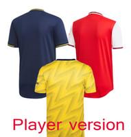 erkekler için uniform gömlekler satışı toptan satış-Satışta 2.020 Oyuncu Versiyon Topçu ev kırmızı Futbol Formalar 19/20 Erkekler uzakta sarı Futbol Gömlek Özelleştirilmiş Futbol Üniformalar