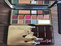 konfrontiert schokoriegel 16 farben make-up großhandel-Make-up-Paletten Lidschatten Schokolade Gold-Palette Lidschatten auch gegenübergestellt weiß Schokoriegel 16 Farben Lidschatten Make-up Kosmetik