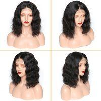 bob kesme dantel perukları toptan satış-Doğal Renk Vücut Dalga Virgin Remy İnsan Saç Dantel Ön Peruk Kısa Bob Cut Vücut Dalga Dantel Ön İnsan Saç Peruk Ücretsiz nakliye