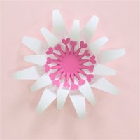 Wholesale baby decorations for nursery resale online - 15CM Easy DIY Paper Flowers For Wedding Backdrop Decorations Paper Crafts Nursery Wall Deco Art Baby Shower Birthday Floral Deco