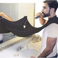 Wholesale floral aprons for sale - Group buy 120x80cm Man Bathroom Apron Black Beard Apron Hair Shave Aprons for Man Waterproof Floral Cloth Household Cleaning Protecter