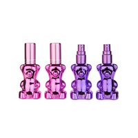Wholesale bear shaped bottles resale online - 12ML Bear Shape Portable Perfumes Spray Bottle Refillable Glass Perfume Bottles Atomizer Fast Shipping F3347
