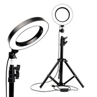 Wholesale makeup phone holder for sale – best LED Ring Light Photo Studio Camera Light Photography Dimmable Video light for Makeup Selfie with Tripod Phone Holder