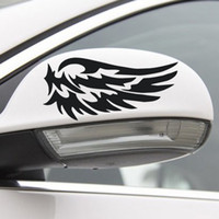 1 Pair Car Stickers Rearview Mirror Reflective Stickers Fire Wings Stickers
