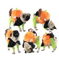 köpek giysileri satmak toptan satış-Kabak Geri Giyim Komik Köpek Kedi Kostüm Ceket Fantezi Köpek Kıyafet Popüler Tasarım 39ctH1 Taşıma Doğrudan Satış Cadılar Bayramı Evcil