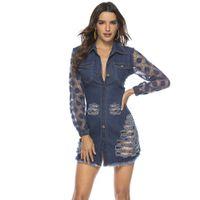 amerikanische jeans für frauen großhandel-2019 New Spring Lace Nähen Loch engen Jeans sexy Frauen kleiden europäischen und amerikanischen Explosion 109301