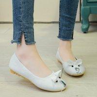 Wholesale mouse flats resale online - Plus Size Woman Flats Cartoon Mouse Slip on Flat Shoes Women Animal Ballet Flats Faux Fur Loafer Shallow Ladies Shoe L