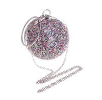 diamantkupplungen taschen großhandel-Brand New Gold Perlen Kristall diamantbesetzte Abendtaschen Damen sphärische Handtaschen Abend Geldbörse besonderen Anlass Brieftaschen