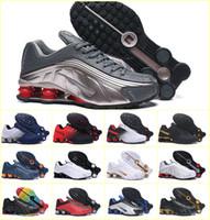 мужская обувь оптовых-Новый дизайн 2019 SHOX R4 Мужская спортивная обувь Triple Black White Дешевые Chaussures Shox DELIVER OZ NZ 802 809 кроссовки кроссовки Zapatillas