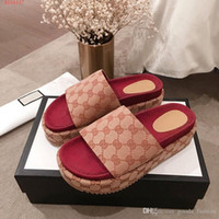 Wholesale ankle water sandals resale online - Trends slippers for women Red strawberry colored sandals High water proof platform non slip canvas slippers with thick sole