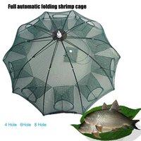 Fishing nets fishing fish trap magnetic net release crab trap landing net fishing tools and equipment square aquarium
