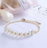 süßes perlenarmband großhandel-2019 europäischen und amerikanischen Mode neue Damen einzigartige Perle Kupfer Armband süße einfache kreative Schmuck Geschenke