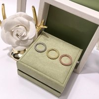 Wholesale simple golden rings resale online - Simple fashion golden beads brass Four leaf clover ring for women Classic fashion designer brand jewelry woman
