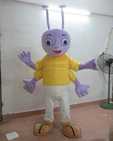 costumes de fourmis achat en gros de-avec un mini ventilateur à l'intérieur du costume de mascotte de tête de fourmi pour adulte à porter à vendre