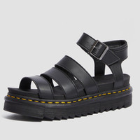 ingrosso sandalo nero piattaforma-Luxury designer gladiator sandals women black summer causal shoes comfortable genuine leather buckle dr martin platform sandals size 35-40