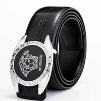 cinturón de cocodrilo de marca para hombre. al por mayor-2019 Fashionz8 cinturón de cocodrilo hebilla slivery diseñador de la marca para hombre cinturón de lujo cinturones de alta calidad para hombres pantalones vaqueros cinturones de cuero genuino