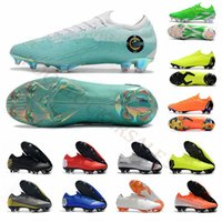 Wholesale purple soccer cleats resale online - Mens Soccer Shoes Fly Mercurial Superfly Cr7 Elite FG Soccer Cleats Youth VII Ronaldo Knit Football Boots Men Designer Shoes