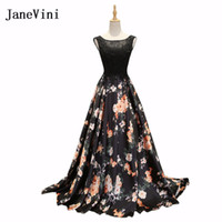 vestidos de dama de honor de encaje floral negro al por mayor-
