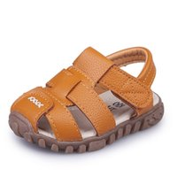 Wholesale closed toes sandals resale online - Summer Baby Boy Shoes Kids Beach Sandals for Boys Soft Leather Bottom Non Slip Closed Toe Safty Shoes Children