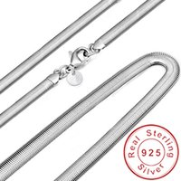 Wholesale snake chain 925 6mm for sale - Group buy Fashion MM Sterling silver Soft Snake Bone Chain Necklace For Women and Men Jewelry Smooth Wedding Chain Necklace