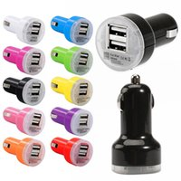 Wholesale iphone mini adapter resale online - Universal Dual Usb ports A Mini Auto Micro Usb Car Charger Adapter For iphone Samsung android phone gps pc mp3