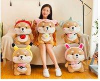 pequenos cães de pelúcia venda por atacado-Cão bonito de Akita pequena boneca boneca 5 estilos bonito almofada travesseiro boneca de Shiba Inu crianças brinquedos de pelúcia