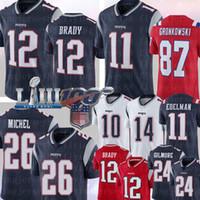 Wholesale patriot jerseys for sale - Group buy New Englands Tom Brady Patriot Julian Edelman Rob Gronkowski Sony Michel Jersey Josh Gordon STEPHON GILMORE