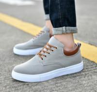 zapatos casuales para hombre coreano al por mayor-La nueva versión coreana marca barata zapatos escotados ocasionales de la zapatilla de deporte de los zapatos de combinación para mujer para hombre Moda Casual zapatos de alta calidad superior 40-45