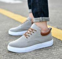 homens sapatos casuais coreano venda por atacado-Nova versão coreana marca barata Casual Shoes corte baixo sapatos combinação Sneaker Womens Moda Mens calçados casuais alta qualidade superior 40-45