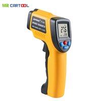 ingrosso tester stella mb-MR CARTOOL IT100 Termometro a infrarossi pistola senza contatto Display LCD Analizzatori digitali Selezione C / F -50 ~ 380 gradi -58 ~ 716F