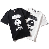 Wholesale xl models resale online - 2019 New Fashion Aape Short Sleeve Men Women Couple Models Ape Head Cotton Casual Short Sleeve Black White