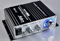mini verstärker hifi großhandel-DHL 10 STÜCKE Auto LEPY Mini V3S 12 V HiFi Stereo Verstärker MP3 iPod Fahrzeug Auto Auto Verstärker