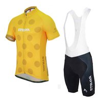 Wholesale bike jerseys kits online - Pro Team strava Cycling Jersey Set for Men Maillot Ciclismo Short Sleeve Summer Quick Dry MTB Bike Cycle Clothing GEL Padded Kits Y022005