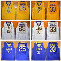 Wholesale tiger uniform online - Men Basketball College Ben Simmons Jersey LSU Tigers University Shaquille ONeal Jerseys O Neal Uniform Team Color Purple Yellow White