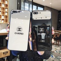 ingrosso caso di vetro dello specchio di iphone-Custodia cover per telefono Fashion Tide Glass Mirror per iPhone 6 6s 7 8 8plus XR X cover posteriore per Apple iphone x xr custodia 7plus per iphone xs max
