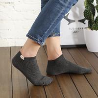 meias de verão curto venda por atacado-Primavera e Verão Mens Socks designer com cor sólida moda de luxo Mens Socks respirável Casual Marca Curto Sock por Homens grosso