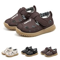 ingrosso singoli ragazzi da spiaggia-SpringSummer Baby Boys Sandali da spiaggia Sneaker Toddler Bambini Lettera Casual Single Shoes Scarpe casual D30Z