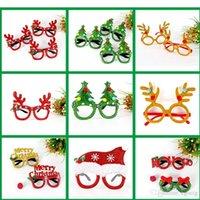 kinder papier gläser großhandel-Kid Weihnachten Brille LED Weihnachtsmann Papiergläser Weihnachten Schneemann Baby Vliesstoff Gläser für Weihnachtsfeier frei versendenden Geschenke