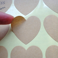 Wholesale paper tags sticker for sale - Group buy 1020pcs Heart Shaped Blank Kraft Paper Stickers Seal Labels Gift Lables Stickers Gift Wrapping DIY Wedding Party Decoration