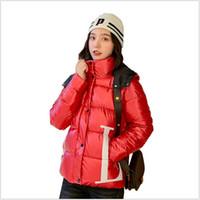 casacos curtos bonitos venda por atacado-Fahion Mulheres Casaco de inverno Com Capuz de Algodão Acolchoado Mulheres Parka Casaco Engrosse Quente jaqueta estudante curto Outwear Bonito R265