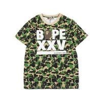 Wholesale shorts colors resale online - 2019 Bape Mens Designer T Shirt Fashion Mens Short Sleeves A Bathing Ape High Quality Cotton T Shirt Tees Colors
