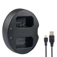 caméra portuaire achat en gros de-Station de chargement USB double port pour chargeur de caméra pour Sony NP-FW50 a7r2 a7m2 a5100 a6000 a5000