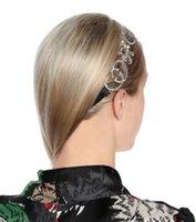 ingrosso diamanti stranieri-L'Europa e il commercio estero degli Stati Uniti adorna il cerchio di capelli di seta diamante flash lettera jy558a