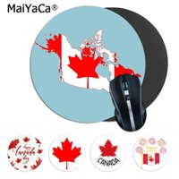 Wholesale gaming laptops for sale resale online - Maiyaca Hot Sales Canada Hockey Maple Unique Desktop Pad Game Lockedge Mousepad gaming Mousepad Rug For PC Laptop Notebook